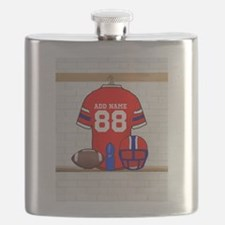 Personalized grid Iron Football jersey Flask
