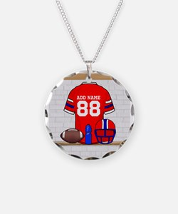 Personalized grid Iron Football jersey Necklace