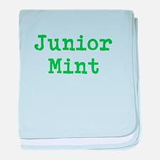 Junior Mint baby blanket