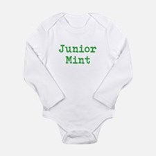 Junior Mint Long Sleeve Infant Bodysuit