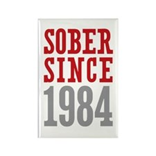Sober Since 1984 Rectangle Magnet