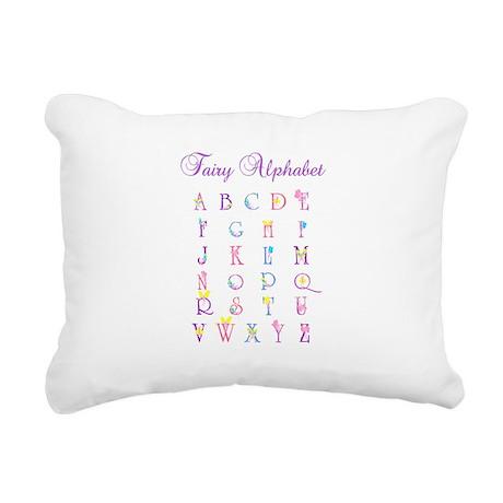 Fairy Alphabet Rectangular Canvas Pillow