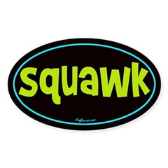 Squawk Oval Decal