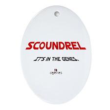 Scoundrel Genes Oval Ornament