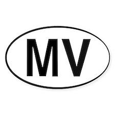 MV Euro Oval Decal