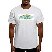 INSHORE FISH - mosaic -USA T-Shirt