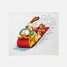 Sledding Fun! Throw Blanket
