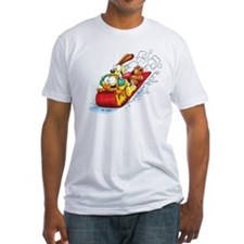 Sledding Fun! Fitted T-Shirt