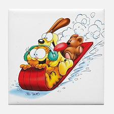 Sledding Fun! Tile Coaster