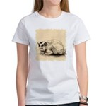 Domestic Cat Japanese Ink Drawing Women's T-Shirt