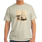 Domestic Cat Japanese Ink Drawing Light T-Shirt