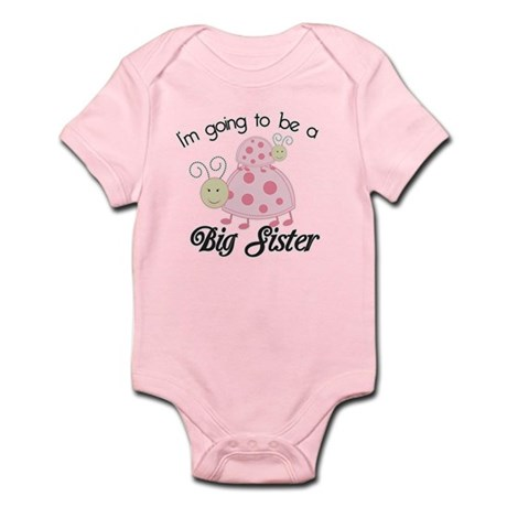 Im Going To Be A Big Sister Dottie Pink Body Suit