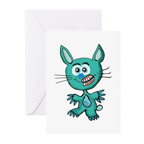 Zombie Bunny1 Greeting Cards (Pk of 20)