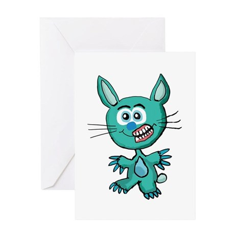 Zombie Bunny1 Greeting Card