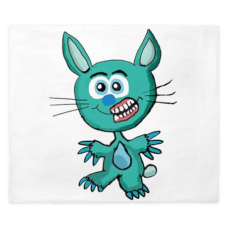 Zombie Bunny1 King Duvet