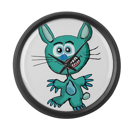 Zombie Bunny1 Large Wall Clock