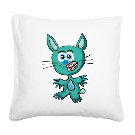Zombie Bunny1 Square Canvas Pillow