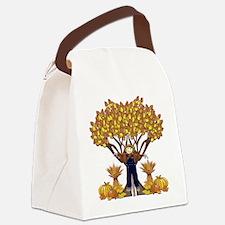 Autumn Scarecrow Canvas Lunch Bag