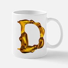 Blown Gold D Mug