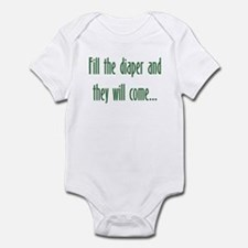 Fill the Diaper, and They Will Come! Baby Bodysuit