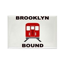 Brooklyn Bound Rectangle Magnet