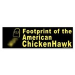 Footprint of Chickenhawk Bumper Sticker