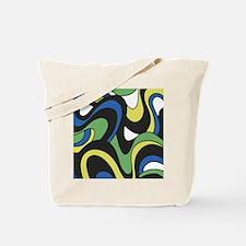 Blue Green Yellow Swirls Tote Bag