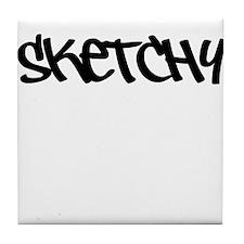 Sketchy Graffiti Tile Coaster