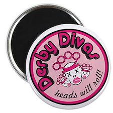 """DerbyDiva 2.25"""" Magnet (100 pack)"""
