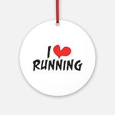 I heart (love) running Ornament (Round)