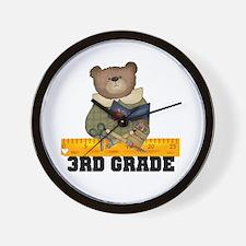 Bear 3rd Grade Wall Clock