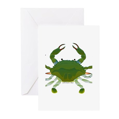 Blue Crab Greeting Cards (Pk of 10)