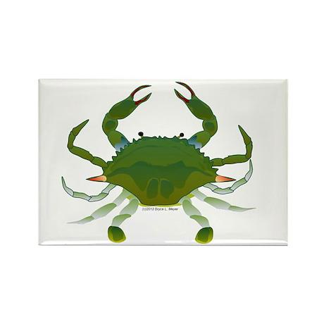Blue Crab Rectangle Magnet (100 pack)