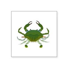 "Blue Crab Square Sticker 3"" x 3"""