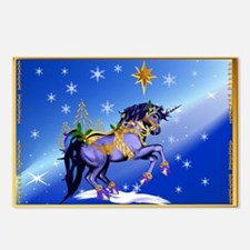 Another Magical Christmas Unicorn Face Postcards (