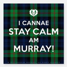 "Murray Square Car Magnet 3"" x 3"""