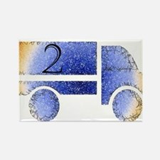 Baby is Two - 2 Month? or 2 Year? Rectangle Magnet