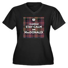 MacDonald Women's Plus Size V-Neck Dark T-Shirt