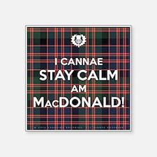 "MacDonald Square Sticker 3"" x 3"""