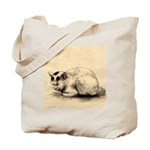 Domestic Cat Japanese Ink Drawing Tote Bag