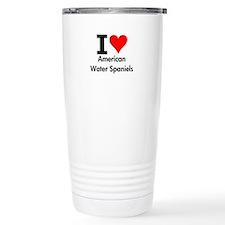 I Love American Water Spaniels Travel Mug