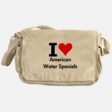 I Love American Water Spaniels Messenger Bag