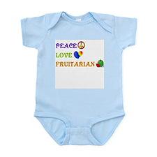 Peace Love Fruitarian Infant Bodysuit