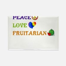 Peace Love Fruitarian Rectangle Magnet