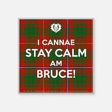 "Bruce Square Sticker 3"" x 3"""