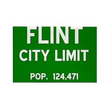 Flint City Limits Rectangle Magnet