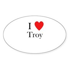 i love troy Decal