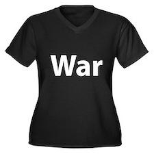 War Women's Plus Size V-Neck Dark T-Shirt