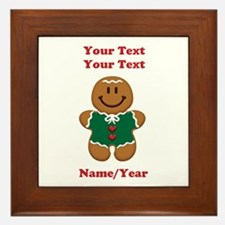 Personalize Gingerbread Baby [elf] Framed Tile