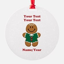 Personalize Gingerbread Baby [elf] Ornament